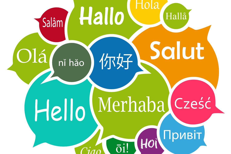 Hallo in allen Sprachen der Welt