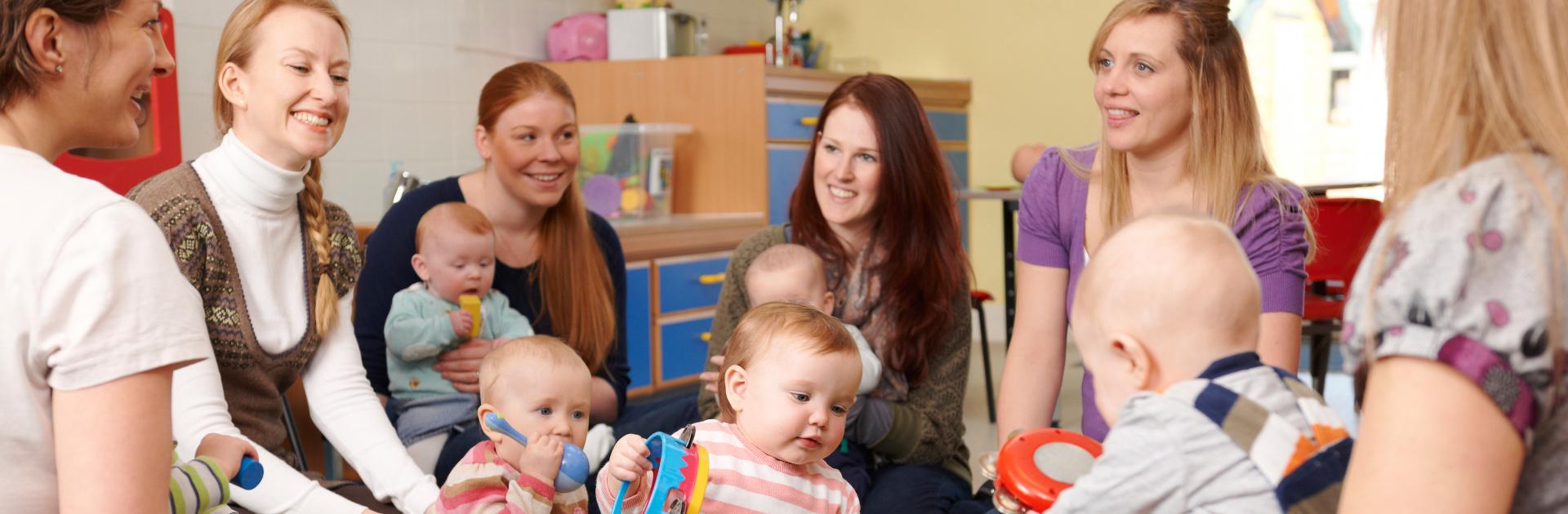 Eine Mutter-Kind-Gruppe